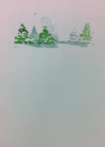 Watercolor Christmas Card